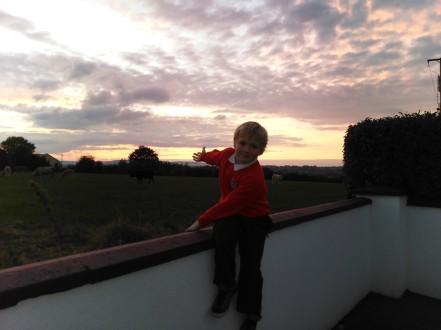 Owen - 13 Oct-2014 Outside of school - Peterswell