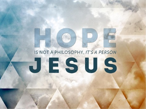 HOPE - background for message.